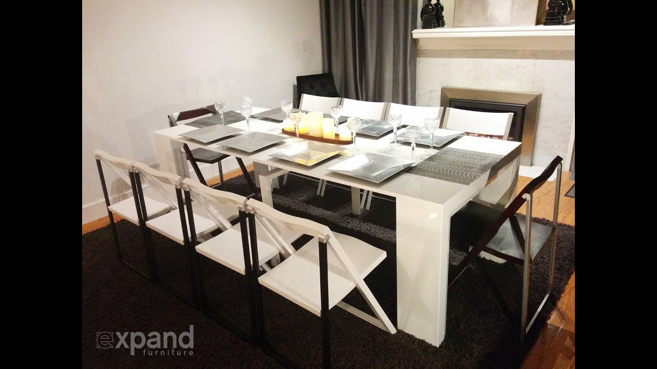 the junior giant console extending table expand. Black Bedroom Furniture Sets. Home Design Ideas