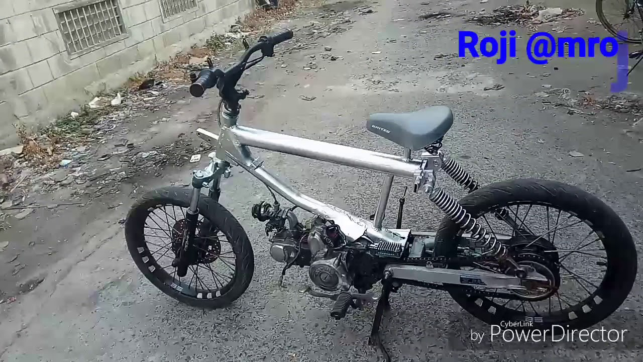 Modif motor jialing jadi sepeda BMX YouTube