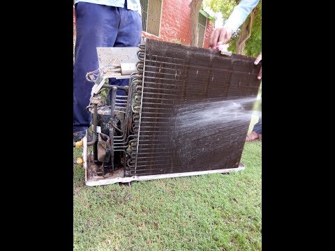 How to clean ac outdoor unit