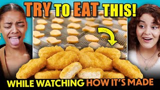 Try To Keep Eating Challenge - How It's Made (Hot Dogs, McNuggets, Imitation Crab, Blue Cheese) screenshot 4