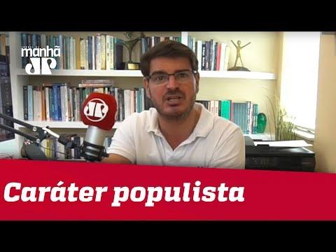 Ninguém tem o povo nas mãos, seja governo, seja oposição   Rodrigo Constantino