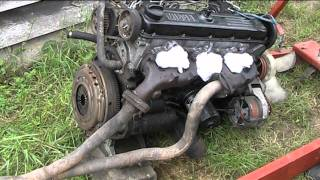 volvo Diesel 240 D24  picking up the new engine