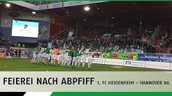 Feierei nach Abpfiff | 1. FC Heidenheim - Hannover 96