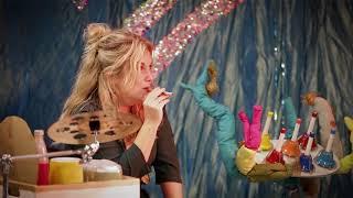 """Trolderose og Trommelise  (Stine Michel og Christine Dueholm)  med musikfortællingen """"Lille sky"""""""