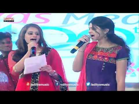 Ramya Behara singinig Choolenge Aasma Song Live Performance At Temper Audio Launch
