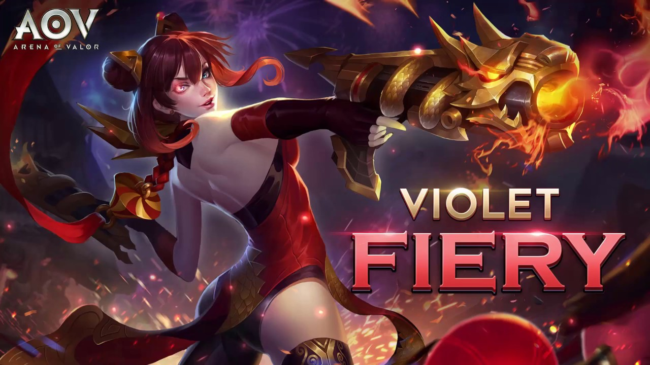 Violet Fiery Skin Spotlight Garena Aov Arena Of Valor