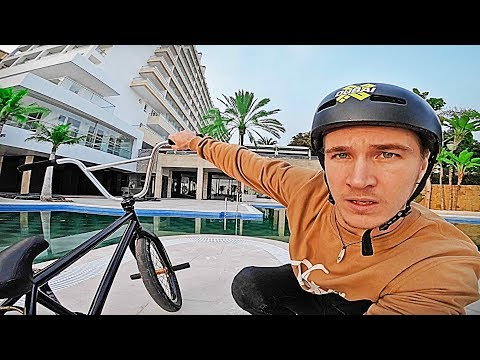 Riding BMX in an EMPTY HOTEL