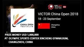 Live - BADMINTON VICTOR CHINA OPEN 2018 - Changzhou (China)