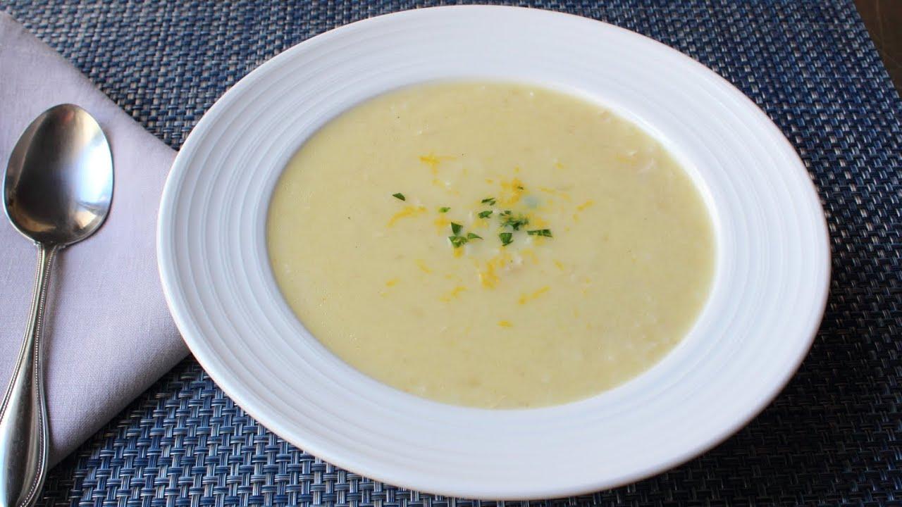 Avgolemeno Soup Recipe How To Make Greek Lemon Chicken Rice Soup Youtube