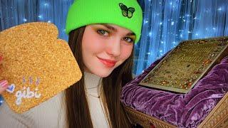 Unboxing gifts from Gibi ASMR   Secret Santa ♥️