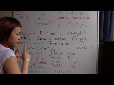 LEARN INDONESIAN LANGUAGE #41 THE 1.0 - SPECIFIC YOU