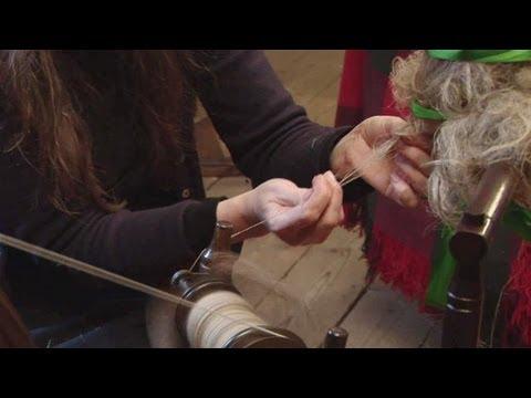 Spinning Flax Fibre Into Linen