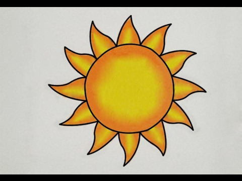 How to draw sun