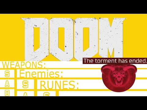 DOOM(2016): Full ULTRANIGHTMARE Run And Tier-Listing Everything