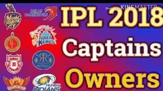 Vivo IPL session 11 all team captain || vivo IPL all team captain 2018 official