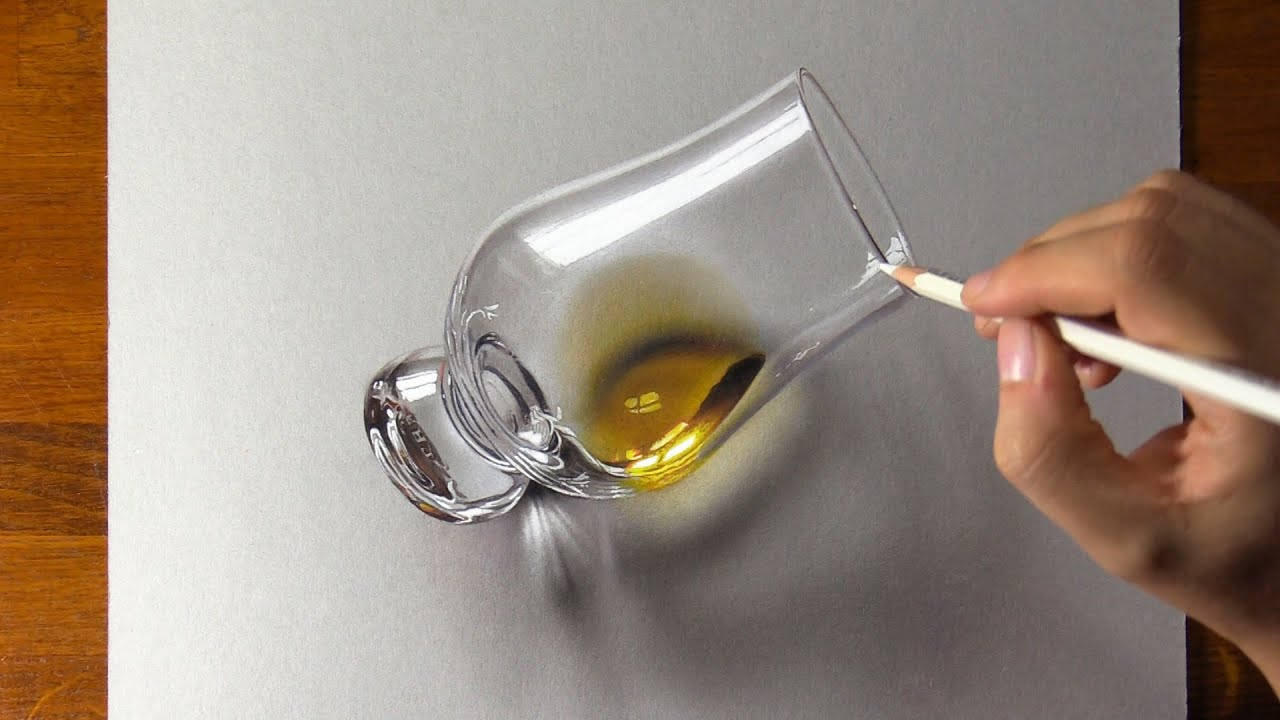Drawing a Glass with some Scotch