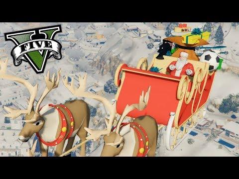 ME CONVIERTO EN SANTA CLAUS !!  - Grand Theft Auto V