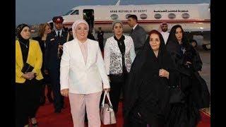 زوجة الرئيس عبد الفتاح السيسي تشارك في منتدي شباب العالم