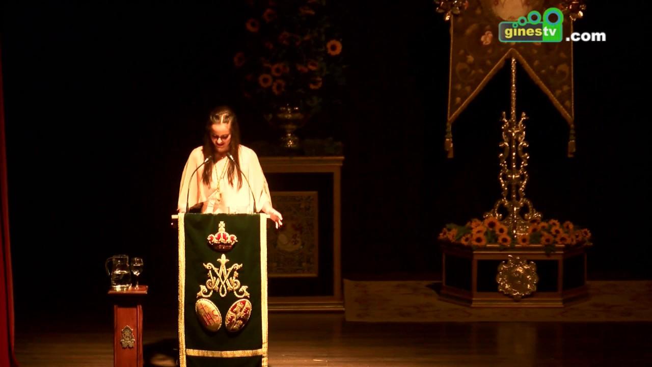 Rocío Mateos Ruiz pronunció el XIV Pregón Joven del Rocío de Gines