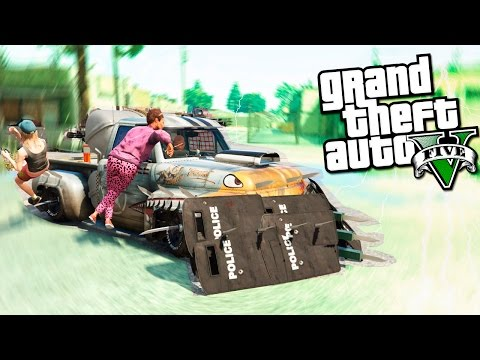 GTA 5 Моды ЗОМБИ МАШИНА - убийца зомби