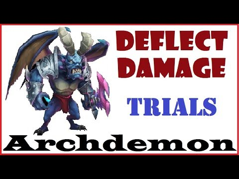 DEFLECT DAMAGE ARCHDEMON Trials For Best Heroes Castle Clash
