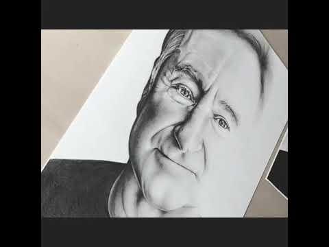 Robin Williams drawing demonstration