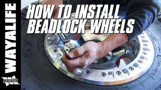 HOW TO INSTALL Beadlock Wheels - KMC XD231 RG & Cooper STT Pro Tires