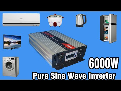 Review & Test 6000W Pure sine wave inverter from Banggood
