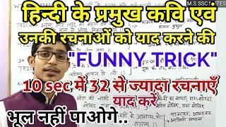 hindi trick/kavi aur unaki rachanaye/ important trick of hindi/uptet/ctet/vdo/ HINDI by Mohit Shukla