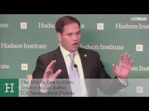 Rubio Speaks On The Crisis In The Middle East At The Hudson Institute