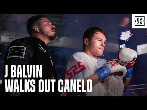 J Balvin Walks Out Canelo Alvarez In EPIC Ring Walk
