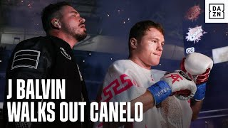 J Balvin Walks Out Canelo Alvarez In EPIC Ring Walk
