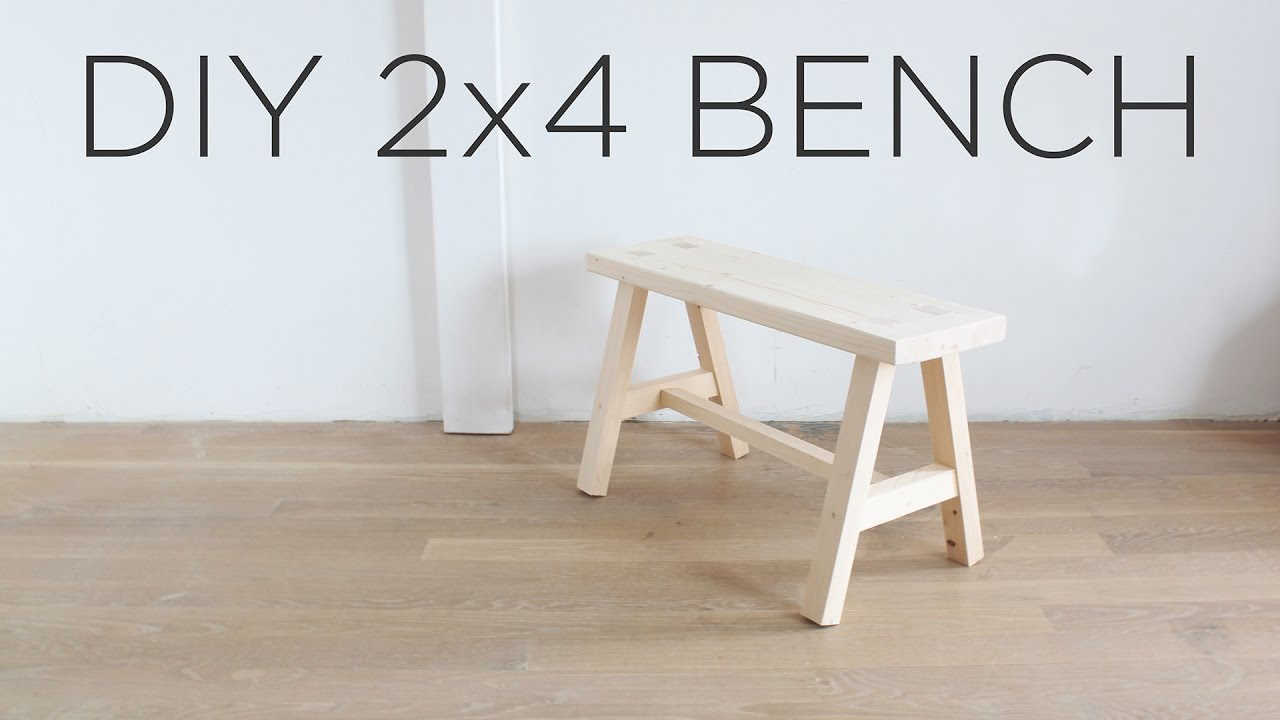Diy 2x4 Bench The Two 2x4 Challenge Youtube