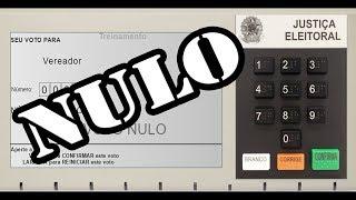 ELEIÇÕES 2018 - Como anular o voto na urna eletrônica 2018?