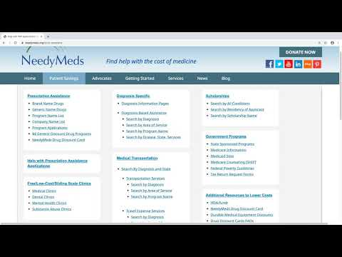 Help Affording Healthcare Costs: The NeedyMeds Overview Webinar (January 2020)