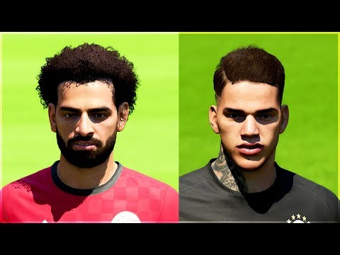 10 NEW PLAYER FACES IN FIFA 18 WORLD CUP MODE