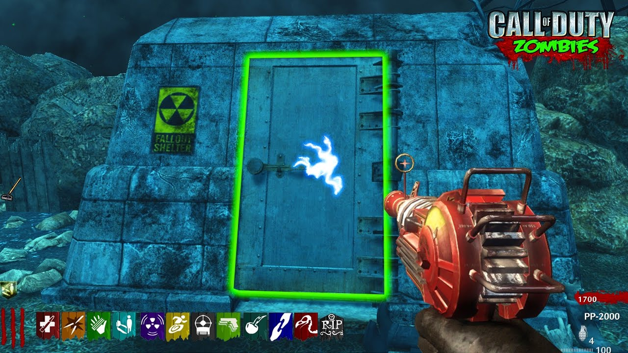 NUKETOWN BUNKER OPENED EASTER EGG MOD! - CALL OF DUTY CUSTOM ZOMBIES MOD GAMEPLAY! (WAW Zombies)