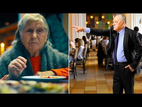 Il direttore del ristorante caccia via questa 'vecchietta', non sapendo chi fosse realmente..