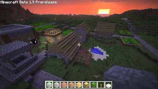 Minecraft 1.9 Pre-release Tour (Village Monks and Biomes)