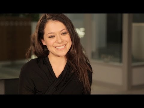 TATIANA MASLANY Takes Taxis in Character & Answers Fans