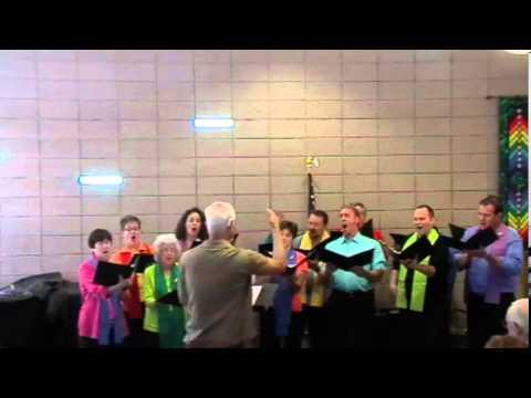 "The Unitarian/Universalist Church of the Desert's choir sings ""Sure On This Shining Night"""