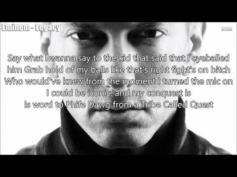 Eminem: Legacy - Lyrics On Screen + Description (Original Voices)