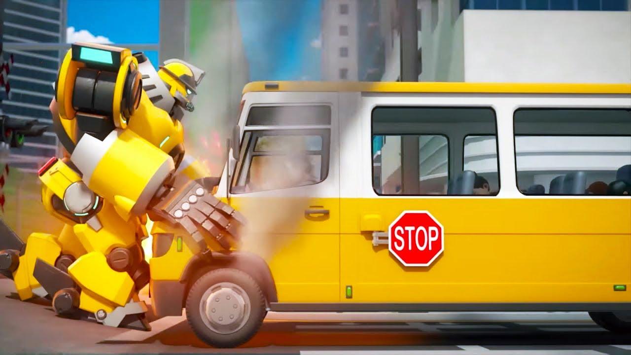Роботы-пожарные - Лучшие серии - Мультик для детей про роботов