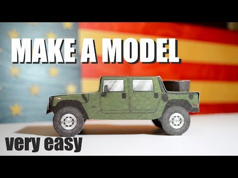 MAKE A MODEL of the best American car Humvee. Hammer H1. US ARMY