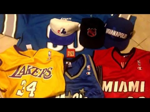 220ac89abe0 Thrift shop finds  8 champion NBA jerseys NHL starter hat pokemon red  montreal expos detroit lions