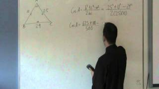 Foundations 11 - Cosine Law - Find a Missing Angle