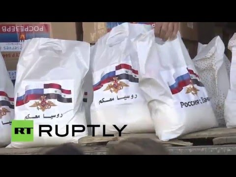 Syria: Russian troops deliver humanitarian aid in Hama