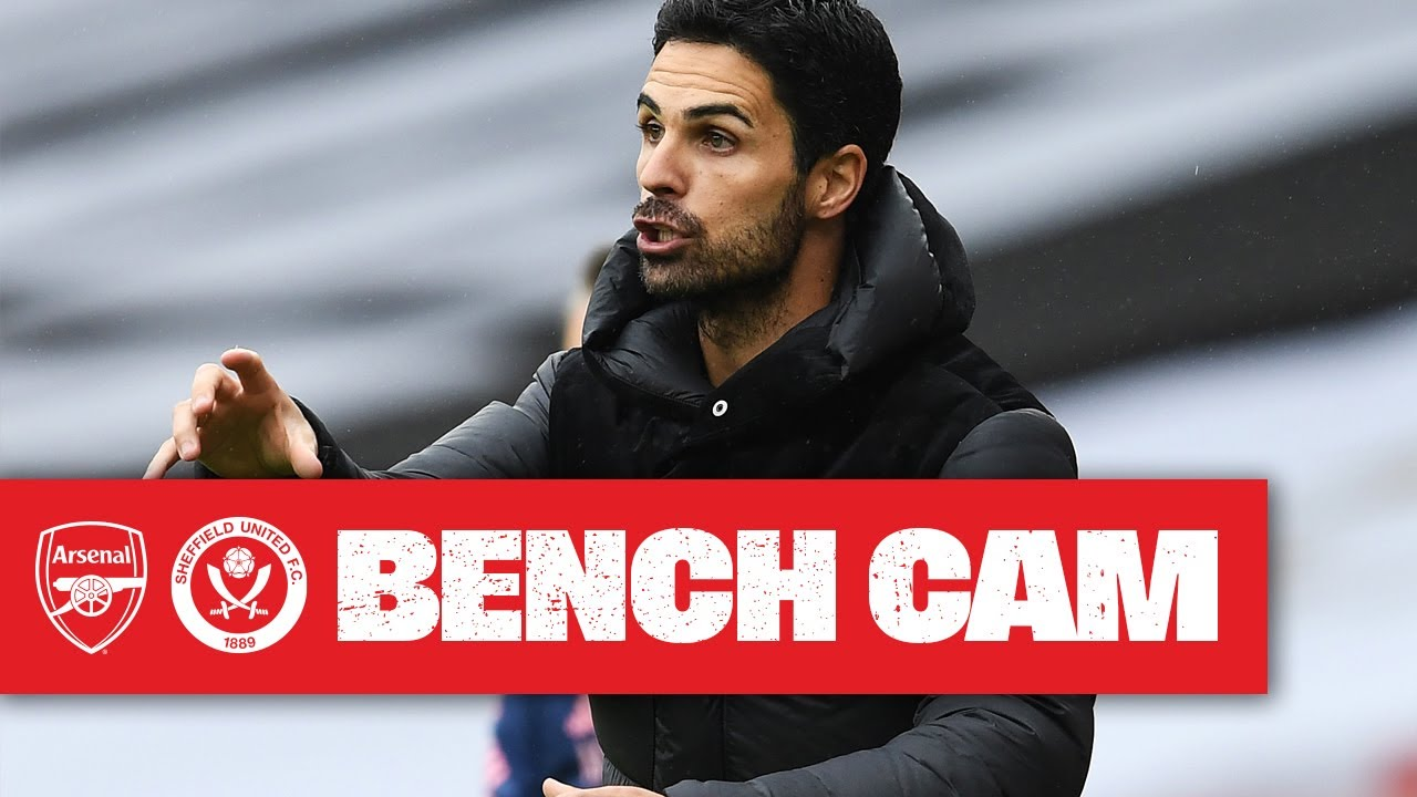 Download BENCH CAM   Arsenal 2-1 Sheffield United   Mikel Arteta reacts to another home win!   Premier League