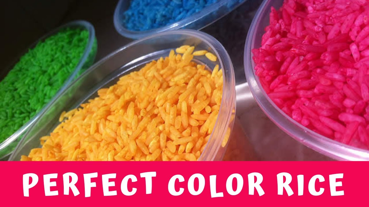 How To Make Color Rice Great For Sensory Play