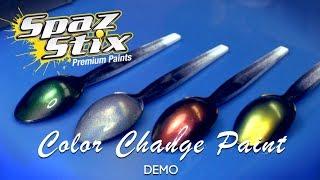 Spaz Stix Color Change Airbrush paint demo